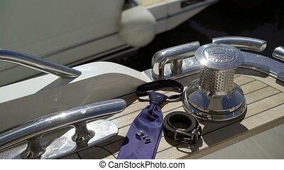 Man's accessories on yacht - Man's accessories on luxury...
