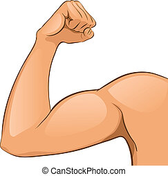Man's Arm muscles. Vector Illustration. Helthcare. Abstract.