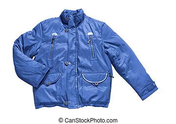 man's blue jacket isolated