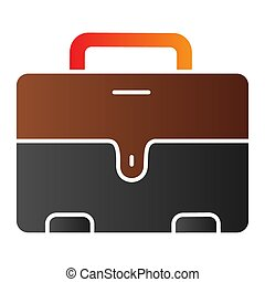Mans briefcase flat icon. Male suitcase color icons in trendy flat style. Office bag gradient style design, designed for web and app. Eps 10.