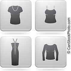 Man\'s Clothing theme icons set covering all things from a...