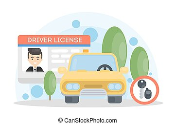 Man's driver license.