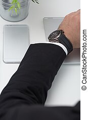 Man's hand in suit