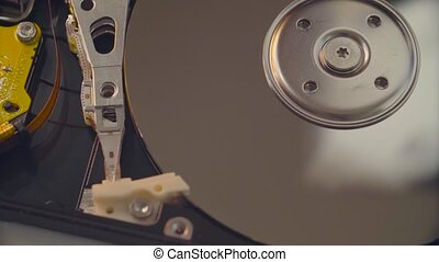 Man's hands opening the hdd cover - Macro shooting of man's...