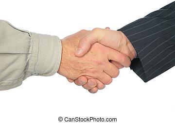 Man`s handshake