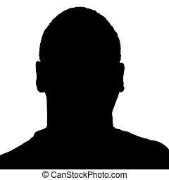 Man's Head Silhouette