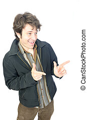 Man's Portrait - sleazy guy gesturing with his hands
