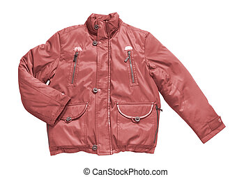 man\'s red jacket isolated