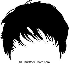Man's short haircut (hairstyle)