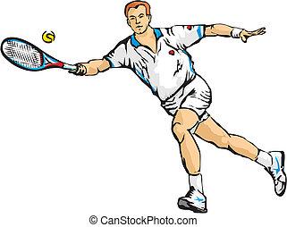 man`s tennis - grand slam, hard court, clay court, grass...