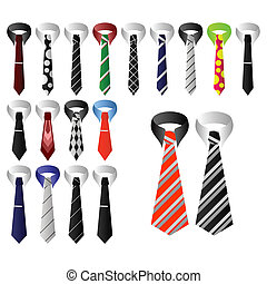 Man's ties.