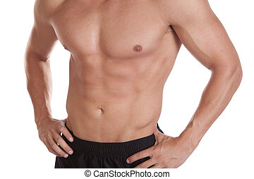 Mans upper body close - A close up shot of a mans upper body...