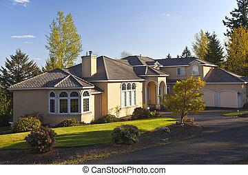 mansión, residencial, clackamas, oregon.