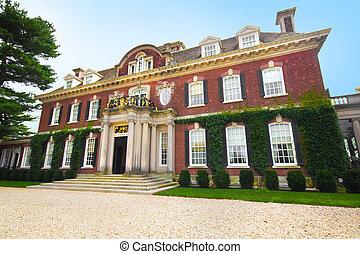 mansión, westbury, jardines