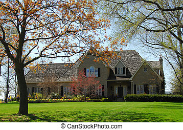 Mansion in spring - Luxury house in spring
