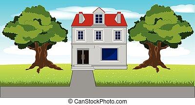 Mansion on nature