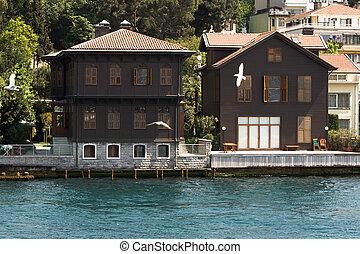 Bown mansions in Bosphorus Istanbul Turkey