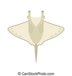 Manta Ray or Stingray Vector Illustration