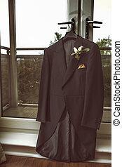 manteau, équipe, mariage