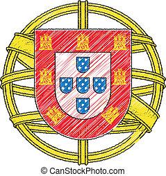 manteau, bras, portugal