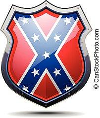 manteau, drapeau, bras, confédération