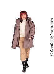 manteau, femme, 2, hiver