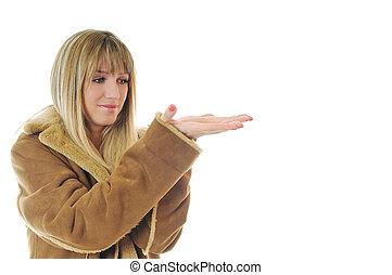 manteau, femme, hiver
