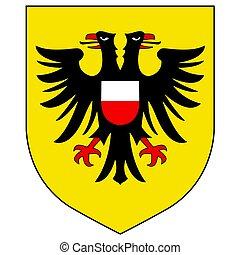 manteau, format., -, bras, lubeck, vecteur, schleswig, holstein, germany.