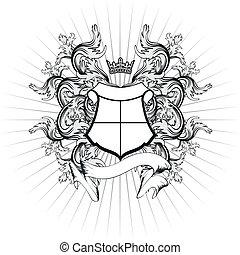 manteau, héraldique, bras, copyspace10