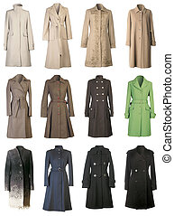 manteaux, coupure, automne