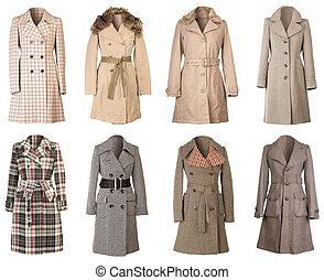 manteaux, coupure, hiver