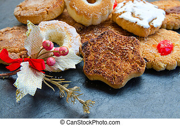 Mantecados, typical Christmas sweets in Spain