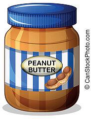 manteiga, amendoim, jarro