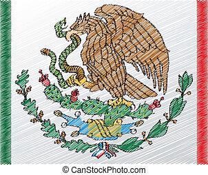 mantel, arme, mexiko