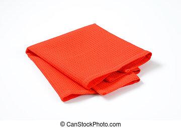 mantel individual, rojo