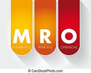 mantenimiento, siglas, reparación, operaciones, mro, -