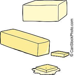 mantequilla, caricaturas