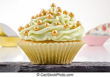 mantequilla, cupcake, cal, crema