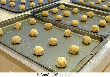 mantequilla, elaboración, galletas, maní
