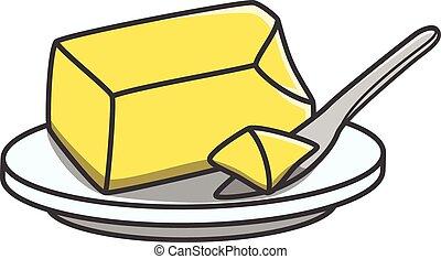 mantequilla, garabato, ilustración