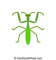 Mantis insect bug single flat color vector icon