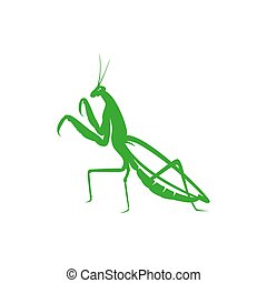 mantis silhouette. insect logo