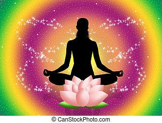 Mantra - yoga pose and mantra