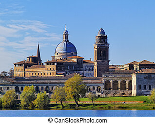 Mantua Cityscape, Lombardy, Italy - Photo was taken during...