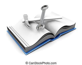 A open Book. 3D rendered Illustration.