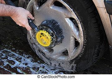 Manual car wash