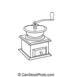 Manual coffee grinder mill