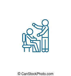 Manual for employees linear icon concept. Manual for employees line vector sign, symbol, illustration.