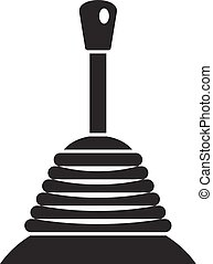 Manual gearbox icon, simple style