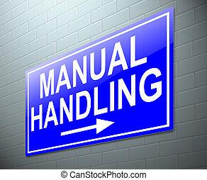 Manual handling concept. - Illustration depicting a sign...
